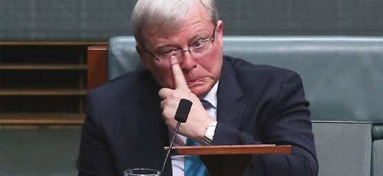 Rudd's tears before bedtime