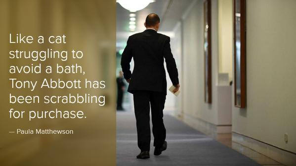 Desperate Abbott struggles to maintain control