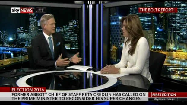Abbott prefect Credlin takes media partisanship to its extreme