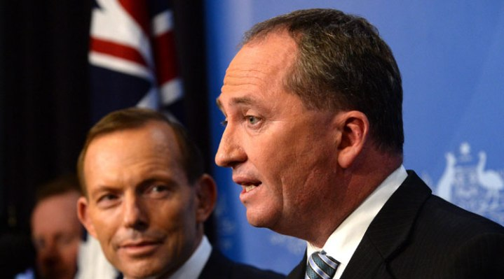 Momentum turns against Barnaby Joyce … and Abbott